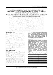 nosocomial uropathogens and their antibiotic sensitivity patterns in a ...