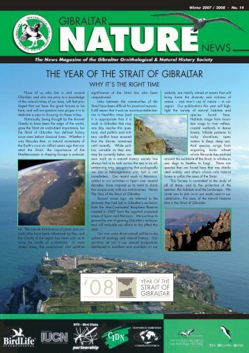 No. 14 - Gibraltar Ornithological & Natural History Society