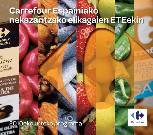 Carrefour Espainiako nekazaritzako elikagaien ETEekin