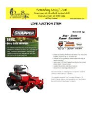 LIVE AUCTION ITEM - Davie County Chamber of Commerce
