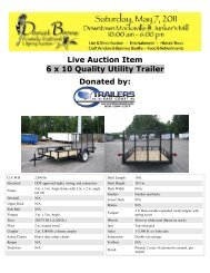 Live Auction Item 6 x 10 Quality Utility Trailer Donated by: