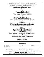 Oct 4th - Chamber Awards Gala & Annual Meeting - Davie County ...