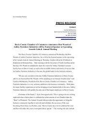 Press Release - Awards Gala Guest Speaker - Davie County ...