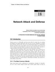 Network Attack and Defense - The Computer Laboratory