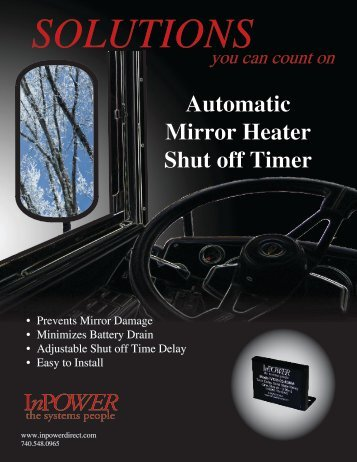 Bus Mirror Heater Timer Brochure - InPower Direct