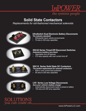 Contactor Product Line Card - InPower Direct
