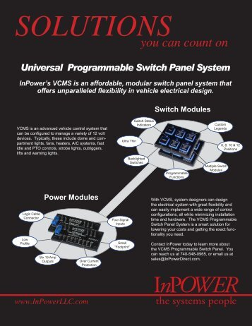 VCMS Sales Brochure - InPower Direct