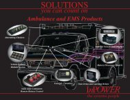Ambulance and EMS Products Sales Brochure - InPower Direct
