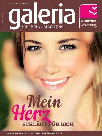 Magazin im PDF Format jetzt runter laden - Kufstein Galerie