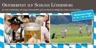 OKTOBERFEST AUF SCHLOSS LÜDERSBURG - Golfanlage ...