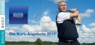 Die Kurs-Angebote 2011 - Golfanlage Schloss Lüdersburg