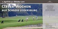 Clever-Wochen - Golfanlage Schloss Lüdersburg