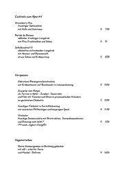 Speisekarte ab 18-06-2008 - Schloss Petershagen