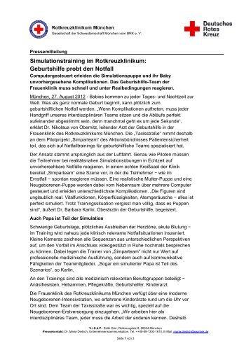 Simulationstraining im Rotkreuzklinikum - Rotkreuzklinik Wertheim