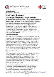 Fast Track-Chirurgie - Rotkreuzklinik Wertheim
