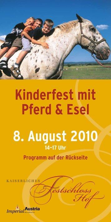 Kinderfest mit Pferd & Esel 8. August 2010 - Schlosshof