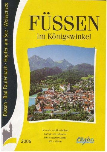 Offizielles Prospekt der Stadt Füssen - Hotel Schlosskrone