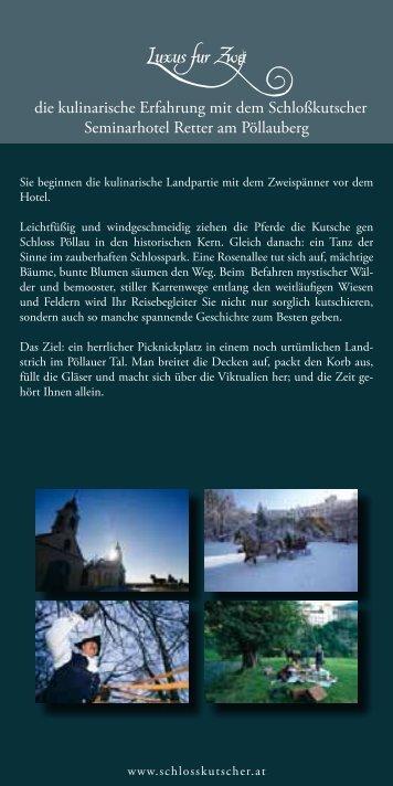 mehr (Pdf) - Der Schlosskutscher