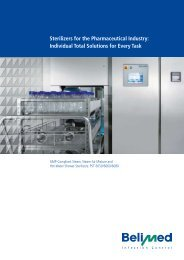 Sterilizers for the Pharmaceutical Industry: Individual ... - Belimed Inc.