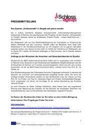 6.9.2010 Aufruf zur Teilnahme an Umfrage Entente ... - Schlossstraße
