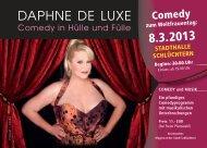 Comedy in Hülle und Fülle - DAPHNE DE LUXE - Stadt Schlüchtern