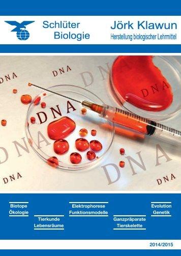 Unser Katalog 2014/2015 ist online! - Schlüter Biologie