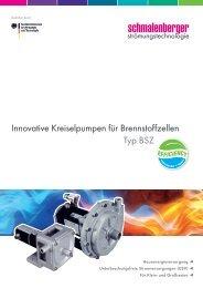 Typ BSZ Innovative Kreiselpumpen für ... - Schmalenberger