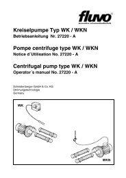 Kreiselpumpe Typ WK / WKN Pompe centrifuge ... - Schmalenberger