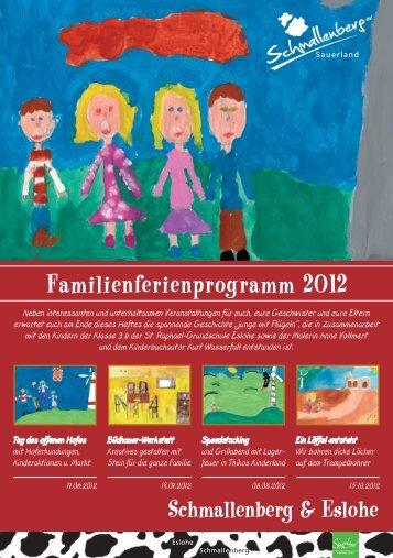 Familienferienprogramm 2012 - Schmallenberg