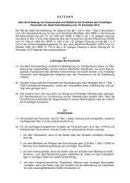 Satzung über die Erhebung von Kostenersatz und ... - Schmallenberg
