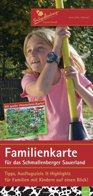 Familienkarte mit Wimmelbild - Schmallenberger Sauerland