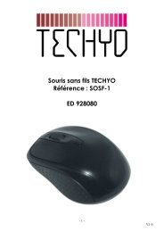 NOTICE SOURIS TECHYO SOSF1 ed 928080 - Electro Depot