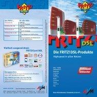 Die FRITZ! - DSL Modem