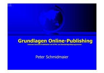 Grundlagen Online-Publishing