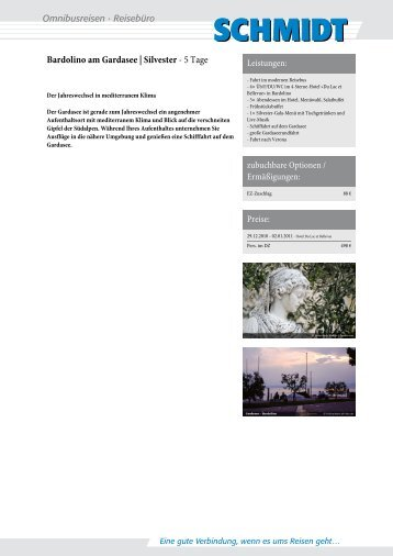 Bardolino am Gardasee | Silvester - Schmidt Bustouristik