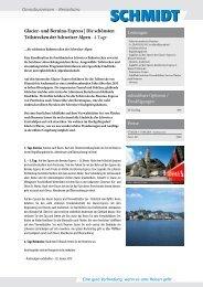 Auf den Spuren des Glacier- und Bernina-Express - Schmidt ...