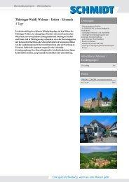 Thüringer Wald | Rennsteig – Erfurt – Eisenach - Schmidt Bustouristik
