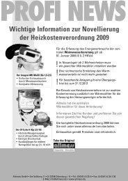 Wichtige Information zur Novellierung der Heizkostenverordnung 2009