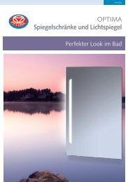 OPTIMA Spiegelschränke und Lichtspiegel - Mainmetall