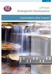 OPTIMA Bodengleiche Duschsysteme - Mainmetall