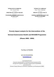 Poverty impact analysis for the interventions of the German ...