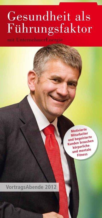 Gesundheit als Führungsfaktor - SchmidtColleg GmbH & Co. KG