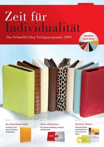 Das SchmidtColleg Verlagsprogramm 2009 - SchmidtColleg GmbH ...