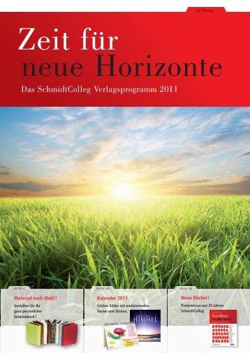 Das SchmidtColleg Verlagsprogramm 2011 - SchmidtColleg GmbH ...