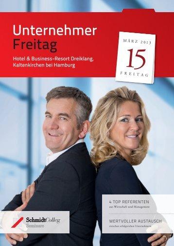 Unternehmer Freitag - SchmidtColleg GmbH & Co. KG