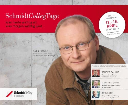 SchmidtCollegTage - SchmidtColleg GmbH & Co. KG