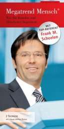 Megatrend Mensch® - SchmidtColleg GmbH & Co. KG