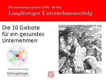Mittelstandsgespräche 2006 - SchmidtColleg GmbH & Co. KG