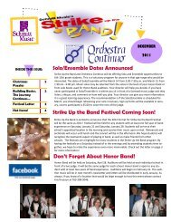 Strike Up the Band Festival Coming Soon! Solo ... - Schmitt Music
