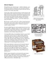 About Organs - Schmitt Music
